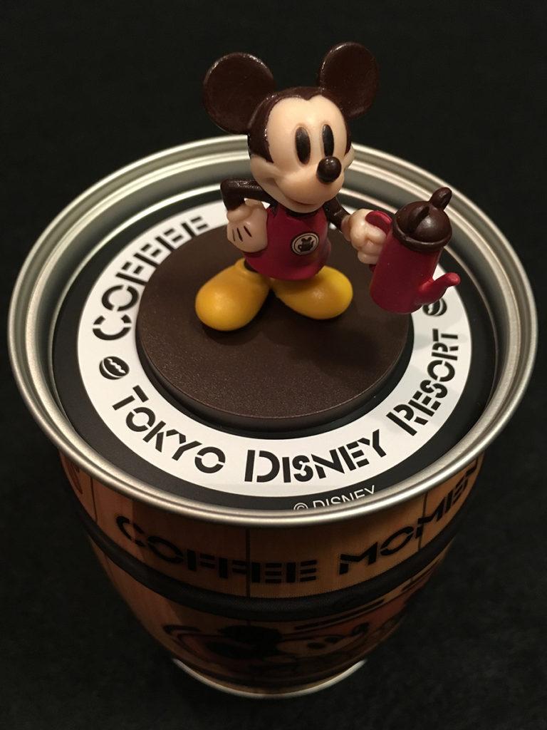 ミッキーフィギュア付き樽インスタントコーヒー「ミッキーフィギュア拡大」