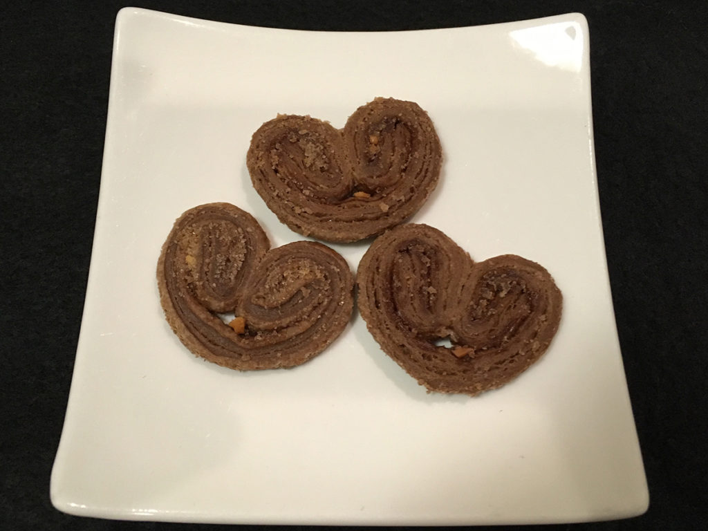 「ダックファミリー チョコレートコンペティション」パイ(ナッツ&チョコレート)」ハートのパイ