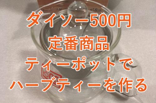 ダイソー500円定番商品ティーポットでハーブティーを作る