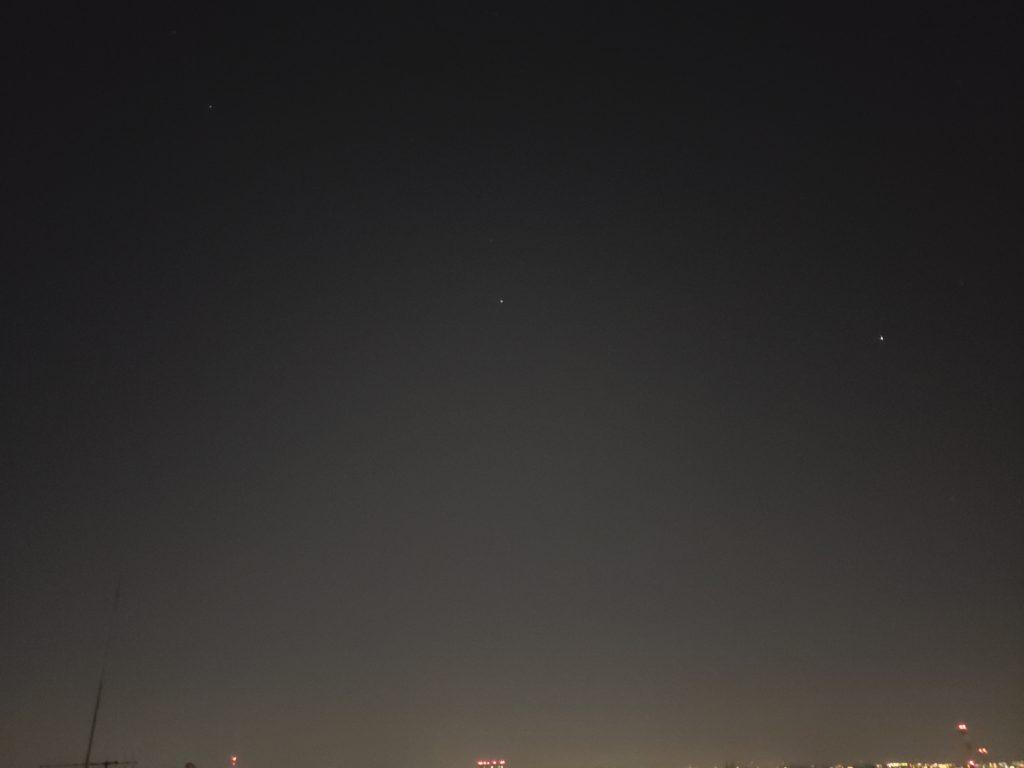 Galaxy S9+で撮影した星空